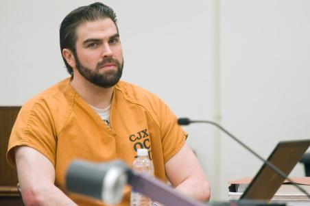 Daniel Wozniak sits in court during during a hearing at the Orange County Central Justice Center in Santa Ana on Friday. ///ADDITIONAL INFO: OCR.WOZNIAK.0926 - 9/25/15 - PHOTO BY JOSHUA SUDOCK, STAFF PHOTOGRAPHER - Attorneys spent Friday morning arguing a before superior court judge, Gregg L. Picket, in an effort to determine whether another judge, John Conley, should testify as a witness in a case he is currently presiding over, People v. Daniel Wozniak. Defense attorney Scott Sanders believes the judge should be allowed to take the stand on grounds that, prior to becoming a judge, he may have participated in early incarnations of the county's confidential jailhouse informant program which, Sanders asserts, was instrumental in convicting his client. Picture made at the Orange County Central Justice Center (dept. C41) in Santa Ana, California on Thursday, September 24, 2015.